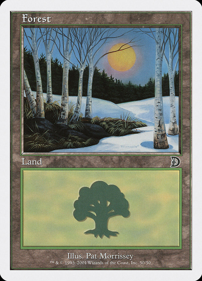 Forest (50) card from Deckmasters: Garfield vs. Finkel