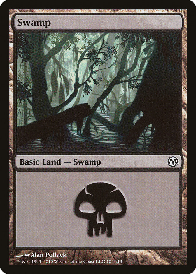 Swamp (105) card from Duels of the Planeswalkers