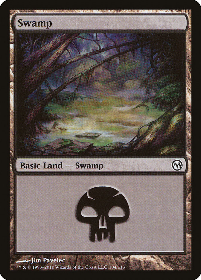 Swamp (104) card from Duels of the Planeswalkers