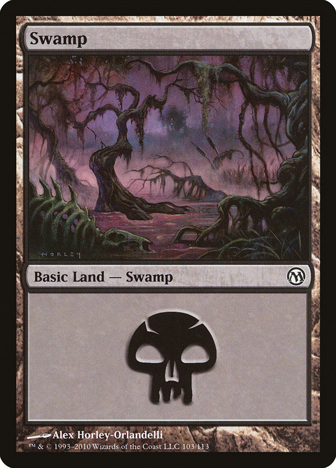 Swamp (103) card from Duels of the Planeswalkers
