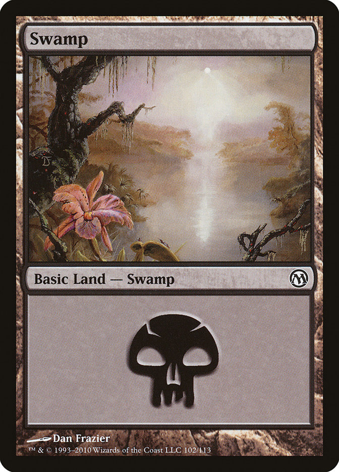 Swamp (102) card from Duels of the Planeswalkers