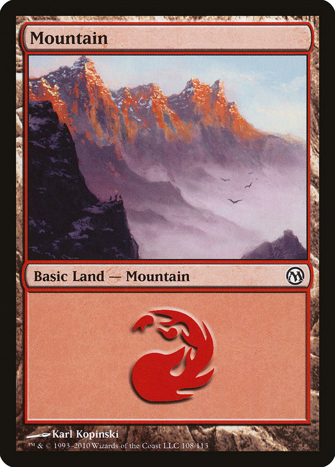 Mountain (108) card from Duels of the Planeswalkers