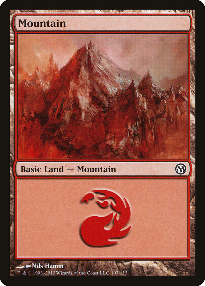 Mountain (107) card from Duels of the Planeswalkers