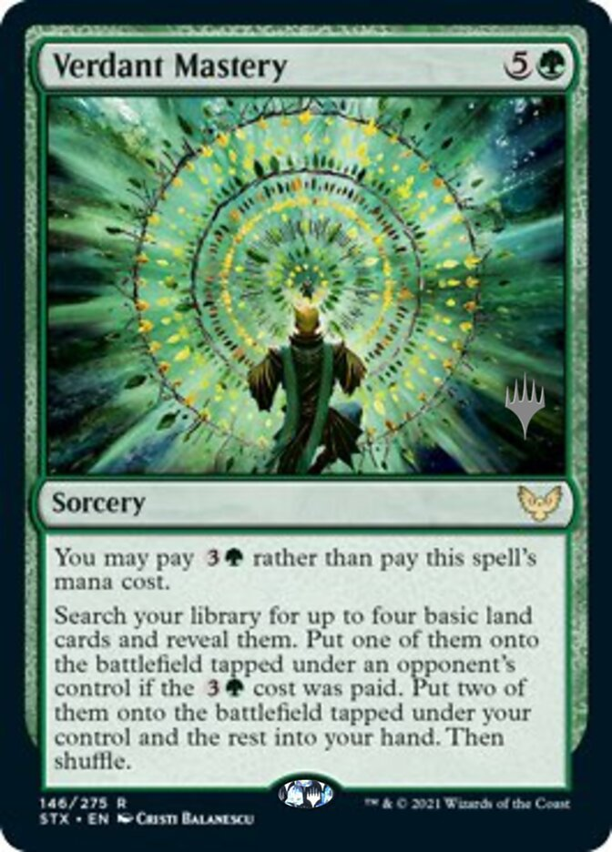 Verdant Mastery card from Promo Pack: Strixhaven