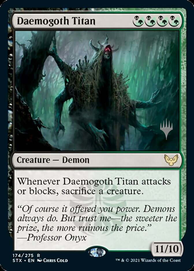 Daemogoth Titan card from Promo Pack: Strixhaven