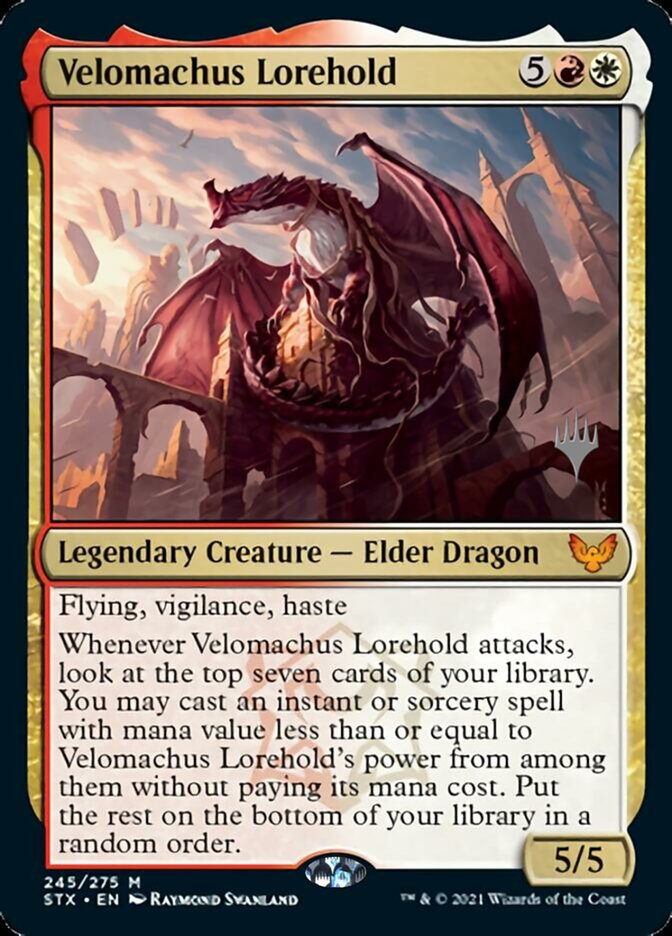 Velomachus Lorehold card from Promo Pack: Strixhaven