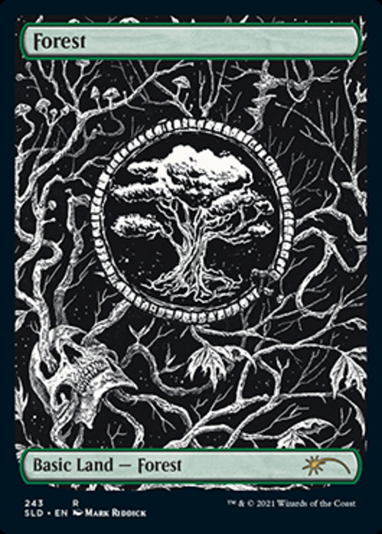 Forest (Crushing Brutality) card from Secret Lair Drop Series