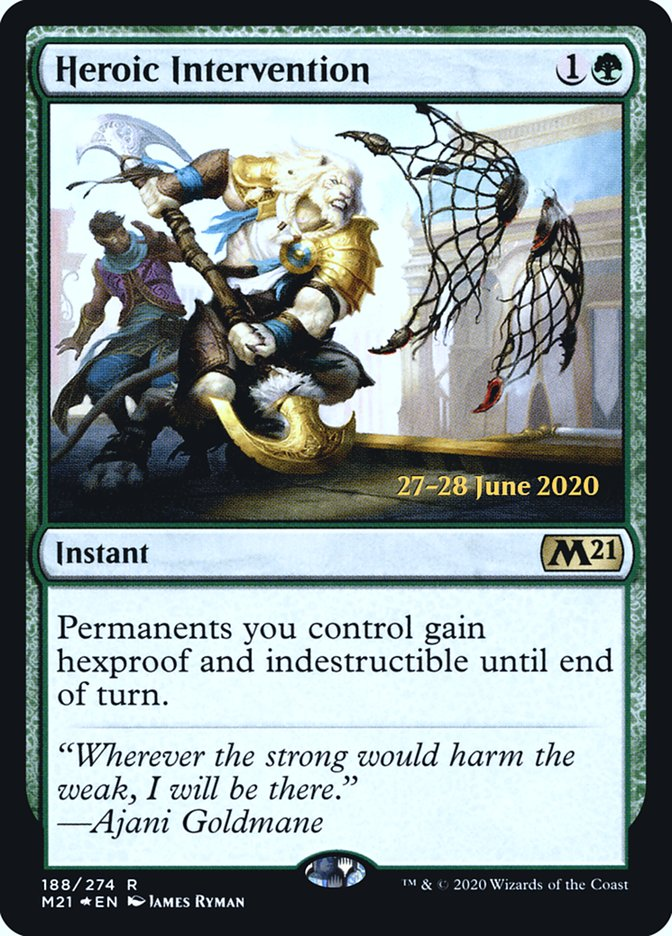 Heroic Intervention (M21) card from Prerelease Cards