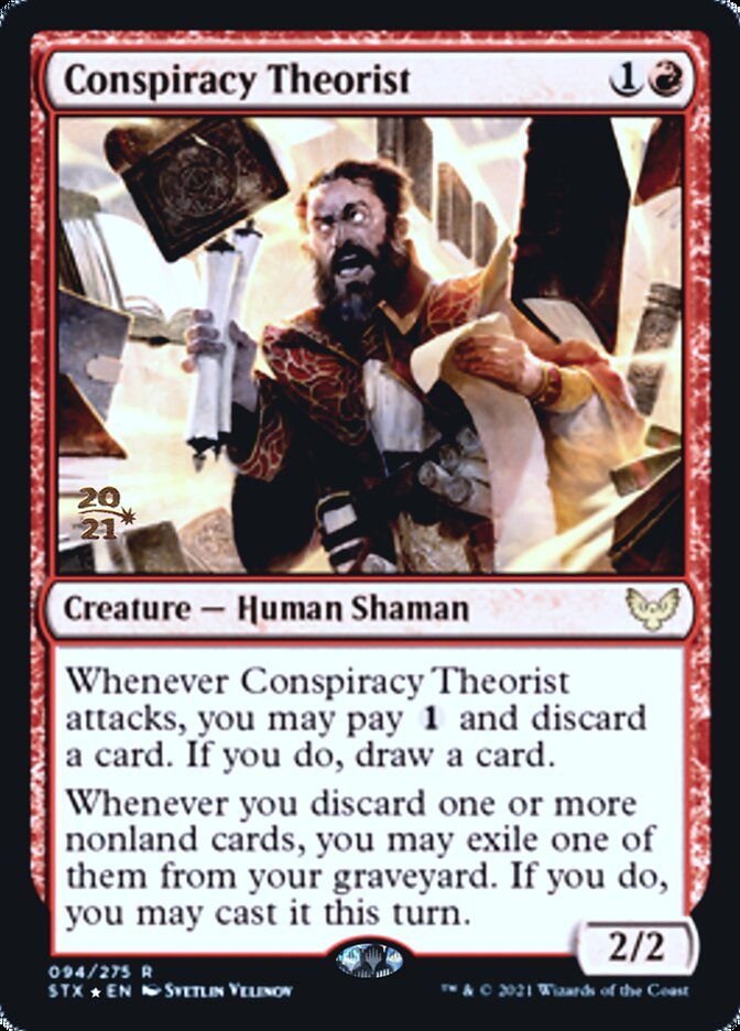 Conspiracy Theorist card from Prerelease Cards