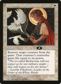 Swords to Plowshares (4th Place) (Oversized) card from Oversize Cards