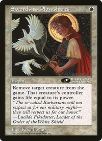 Swords to Plowshares (3rd Place) (Oversized) card from Oversize Cards