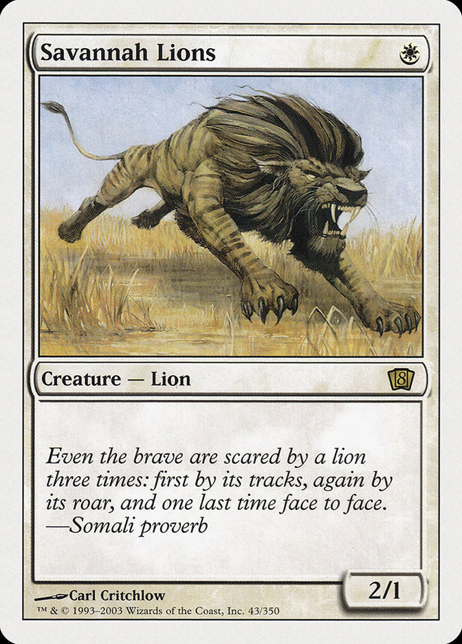 Savannah Lions (8th Edition) card from Oversize Cards