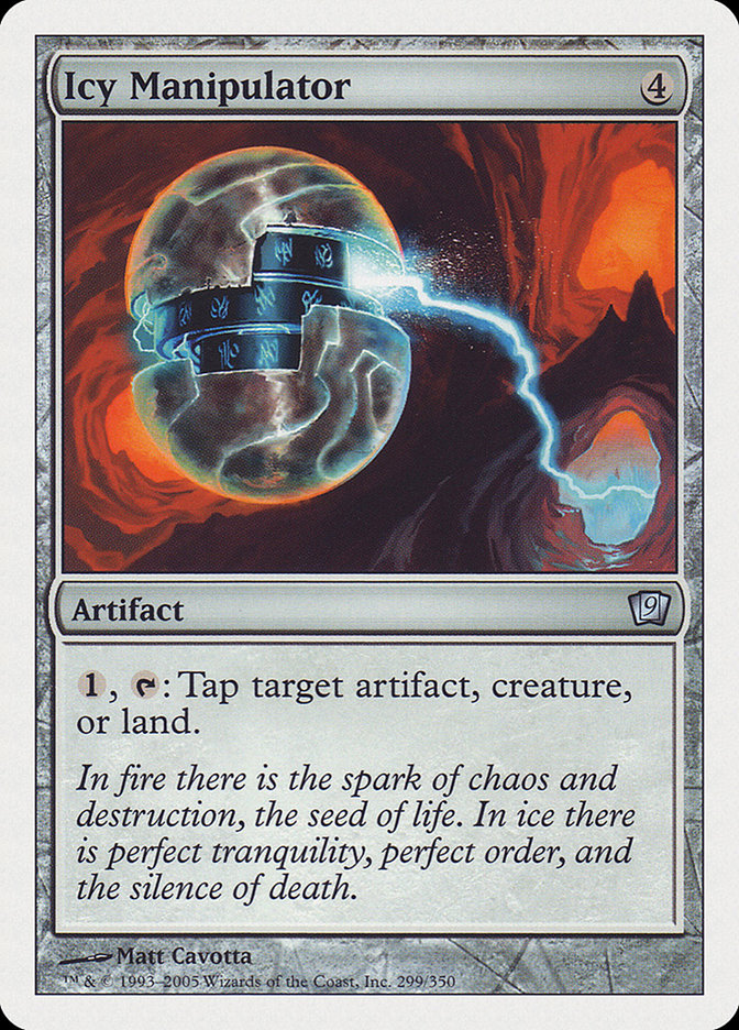 Icy Manipulator (9th Edition) card from Oversize Cards