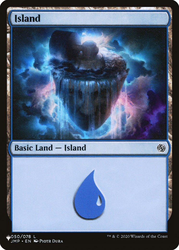 Island (50) card from The List