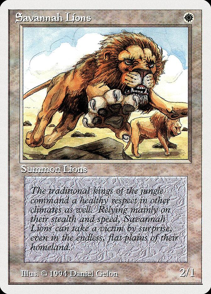 Savannah Lions card from Summer Magic