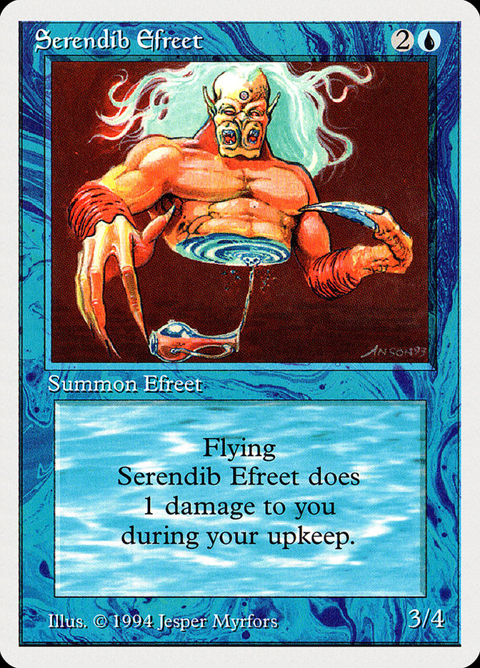 Serendib Efreet card from Summer Magic