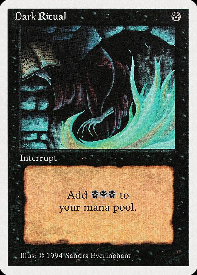 Dark Ritual card from Summer Magic