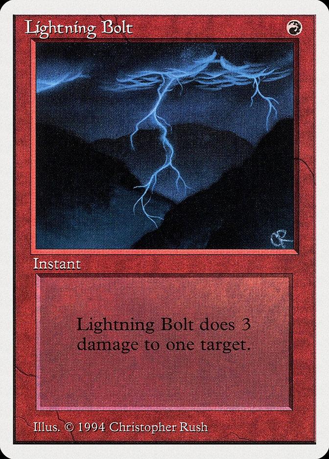 Lightning Bolt card from Summer Magic