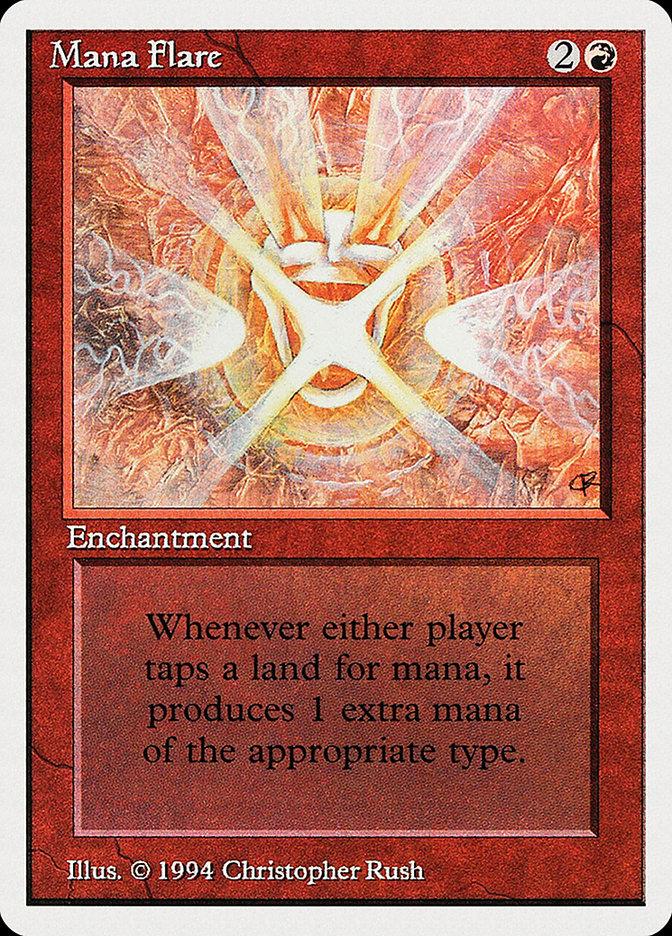 Mana Flare card from Summer Magic