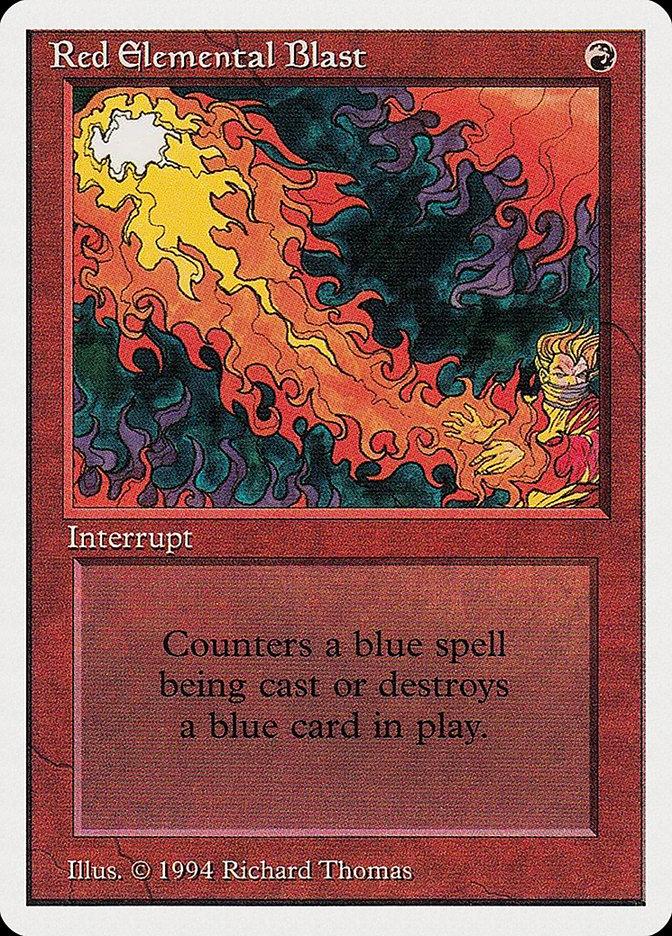 Red Elemental Blast card from Summer Magic
