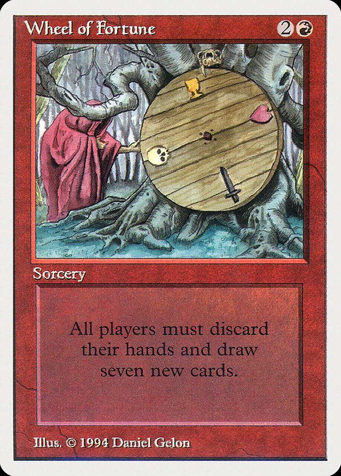 Wheel of Fortune card from Summer Magic