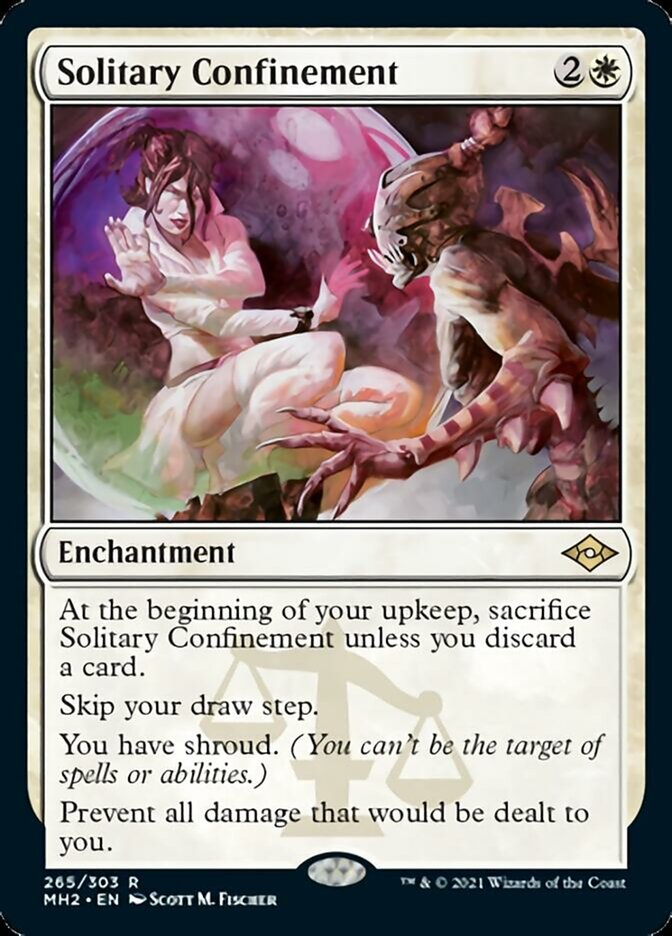 Solitary Confinement card from Modern Horizons 2