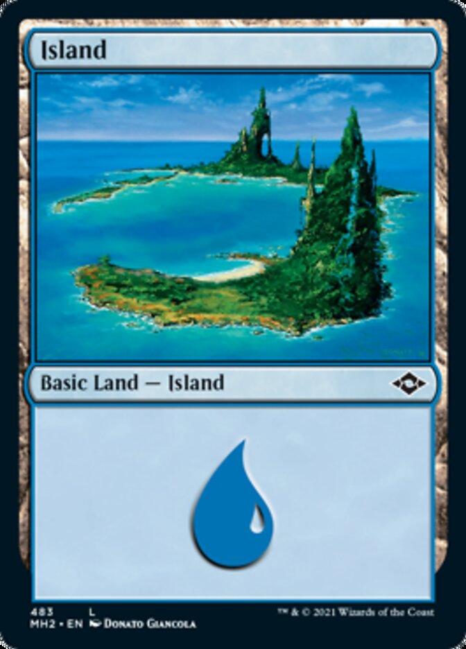 Island (483) card from Modern Horizons 2