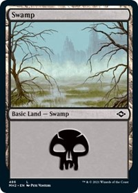 Swamp (486) (Foil Etched) card from Modern Horizons 2