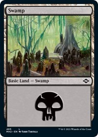 Swamp (485) (Foil Etched) card from Modern Horizons 2