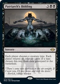 Patriarch's Bidding (Foil Etched) card from Modern Horizons 2