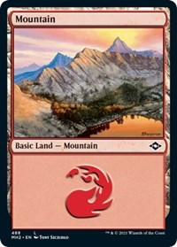 Mountain (488) (Foil Etched) card from Modern Horizons 2