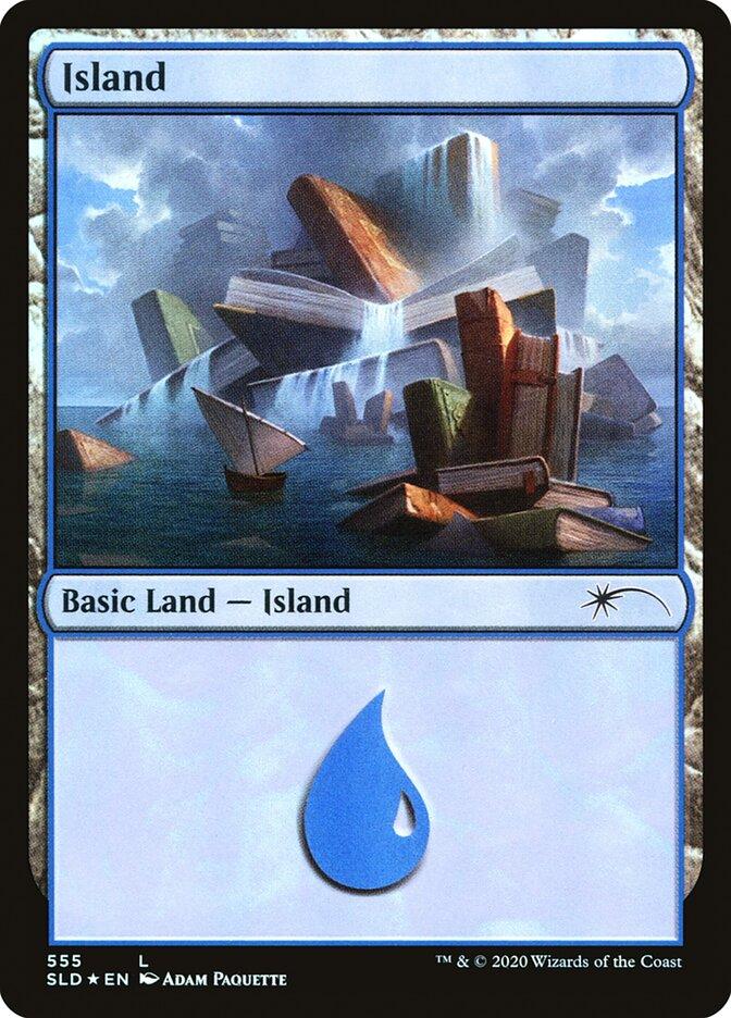 Island (555) card from Secret Lair Drop Series