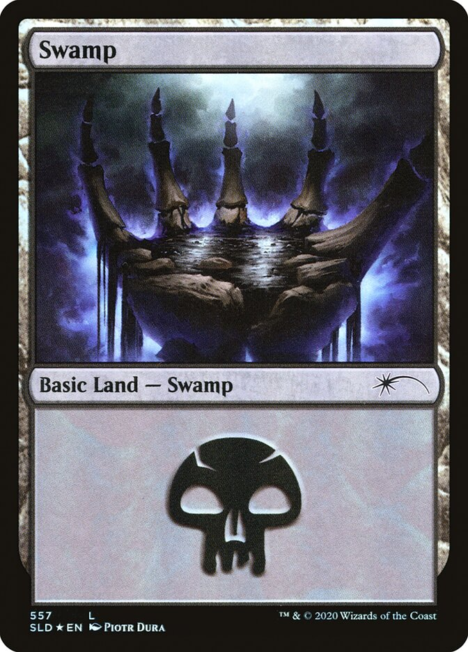 Swamp (557) card from Secret Lair Drop Series