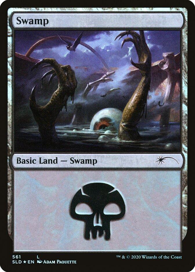 Swamp (561) card from Secret Lair Drop Series