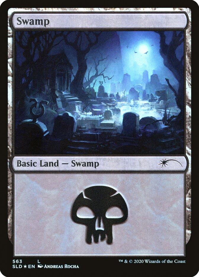 Swamp (563) card from Secret Lair Drop Series