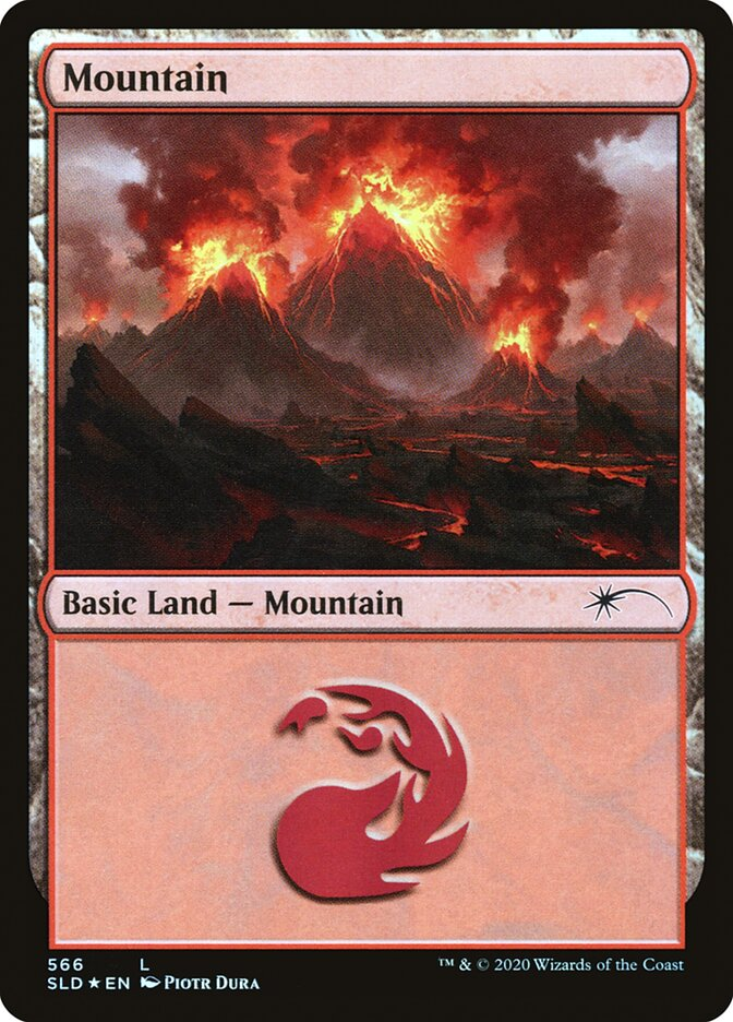 Mountain (566) card from Secret Lair Drop Series