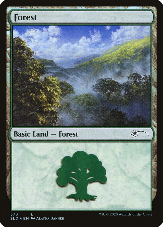 Forest (573) card from Secret Lair Drop Series