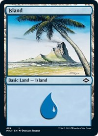 Island (484) (Foil Etched) card from Modern Horizons 2