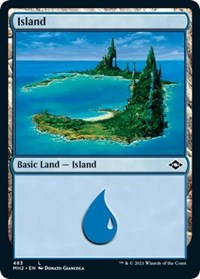 Island (483) (Foil Etched) card from Modern Horizons 2
