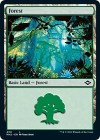 Forest (490) (Foil Etched) card from Modern Horizons 2