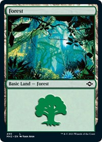 Forest (490) card from Modern Horizons 2