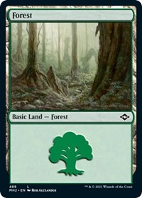 Forest (489) (Foil Etched) card from Modern Horizons 2