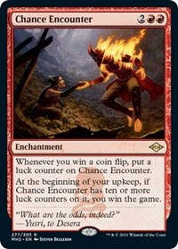 Chance Encounter (Foil Etched) card from Modern Horizons 2