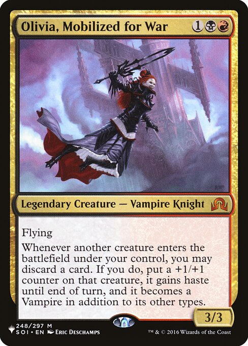 Olivia, Mobilized for War card from The List