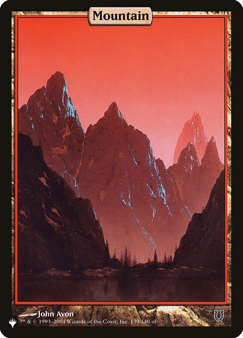 Mountain card from The List