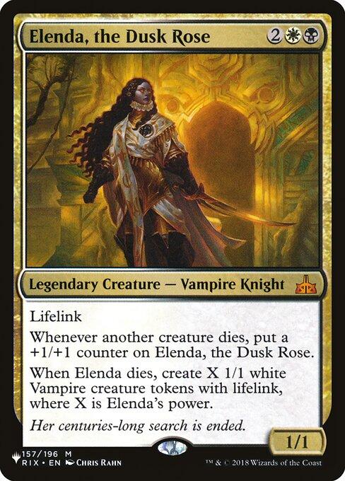 Elenda, the Dusk Rose card from The List