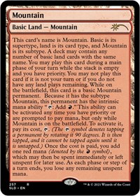 Mountain (257) (Full-Text Lands) card from Secret Lair Drop Series