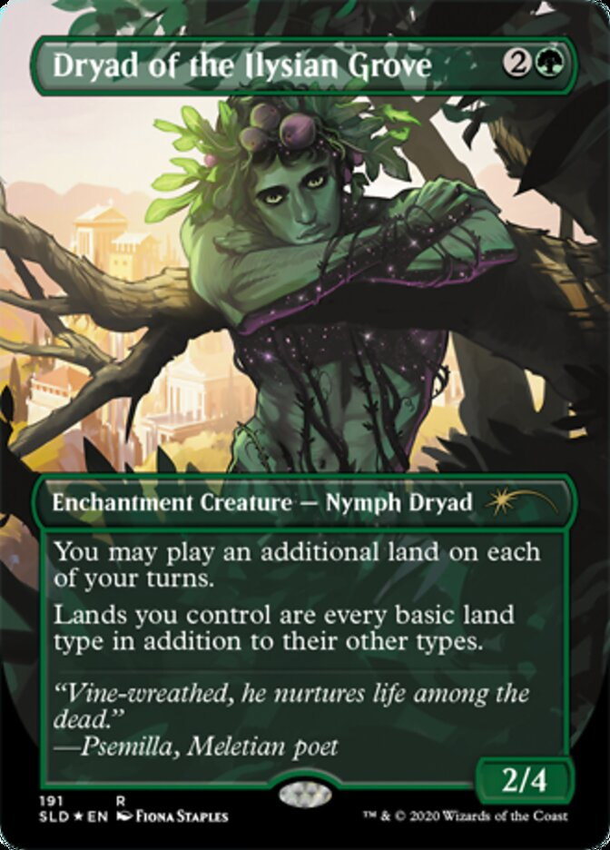 Dryad of the Ilysian Grove card from Secret Lair Drop Series