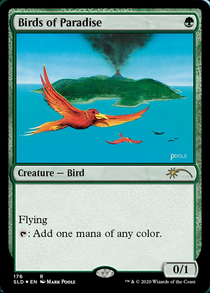 Birds of Paradise (176) card from Secret Lair Drop Series