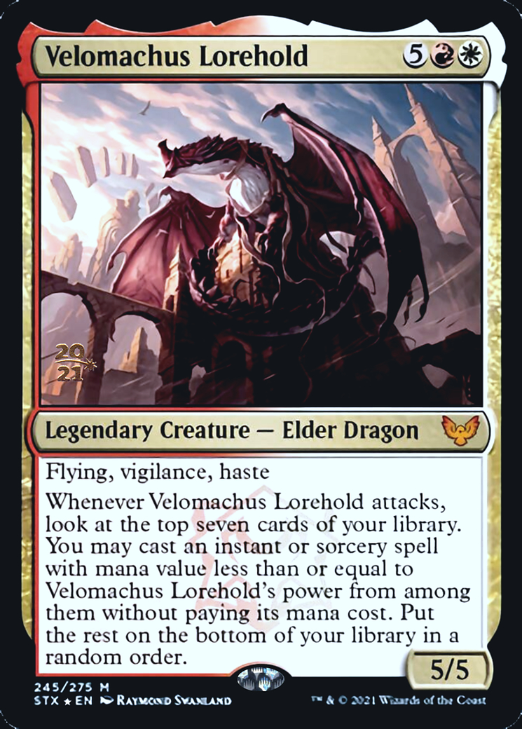 Velomachus Lorehold card from Prerelease Cards
